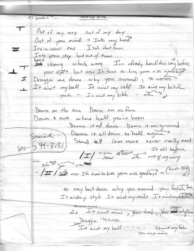 Scanned Lyrics